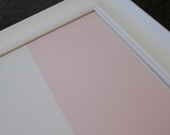 "Magnetic Board Farmhouse Framed Fabric Magnet Board -Large Bulletin Board  23.5""x29.5"" Memo Board Wedding Baby girl nursery pink & white"