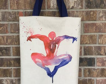 Spider-Man Inspired Tote Bag