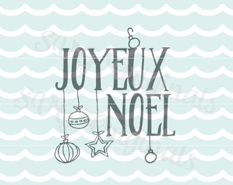 Joyeux noel SVG Vector File.  Merry Christmas So many uses! Cricut Explore and more! Joyous Noel Snowflakes Stars Joyous Noel
