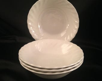 Olde Chelsea White by MYOTT STAFFORDSHIRE Coupe Bowl Set of 4