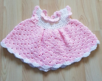 0-3 months pink baby dress headband victorian hat and bloomers