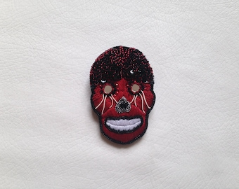 "Embroidered brooch ""Alx"""