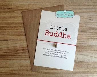BUDDHA Bracelet, Yoga Friendship Bracelet, Meditation, Buddha Friendship Bracelet, Buddha Card, Buddha Wish Bracelet, Yoga Gift
