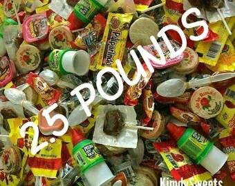MEXICAN CANDY MIX, 2.5 pounds. Vero, De la Rosa, indy, and more!!
