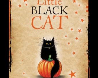 Little Black Cat Halloween card