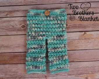 Instant Download- Crochet Pattern- Little Textures Baby Pants