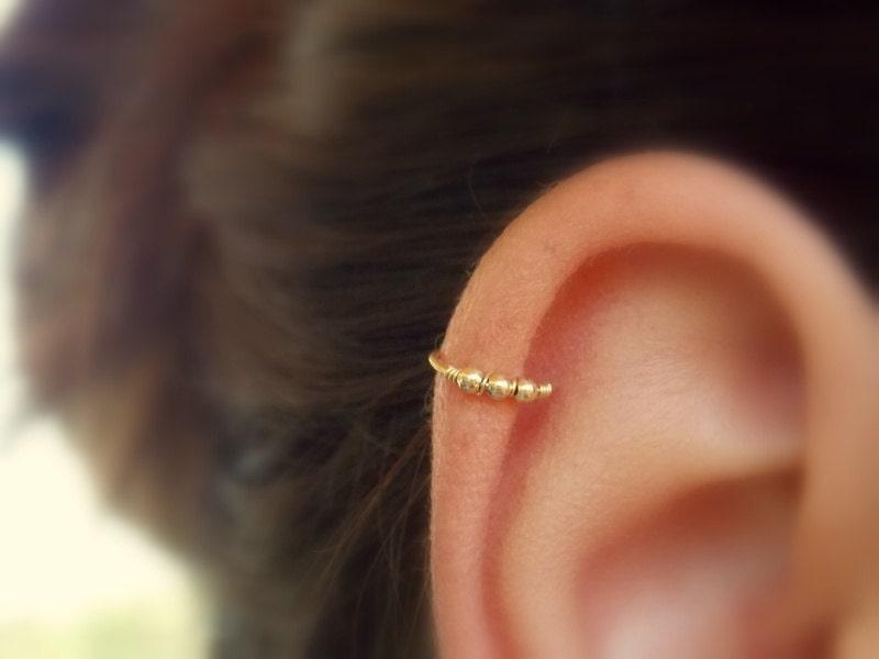 Beaded cartilage earring Helix hoop Cartilage piercing