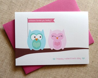 Owl Valentine / Owls in Love / Owl Greeting Card