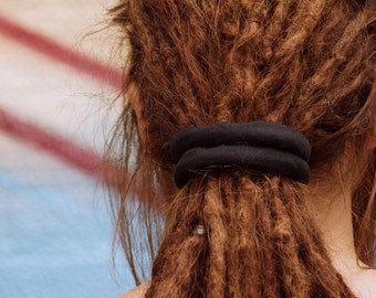 45cm BLACK Dreadlocks Wrap / Wire headband / Dreads Tie / Hand sewn / Dreadlocks Style / Recyclable / 100% cotton / Made to Order