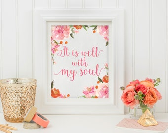 Wall Art Print - Quote Printable - Digital Download - Happy Printable Art - Inspirational Quote - Typography Print - Life Quote - Wall Art