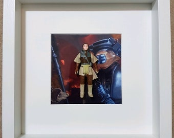 Custom framed vintage star wars Leia