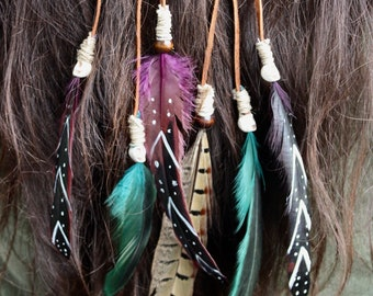 Feathered Head Piece/Pagan/Hippy-Gypsy