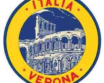 Vintage Style Italy Rome Roma Verona  Travel Decal sticker