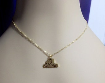 GRANDMA Charm Pendant Gold Necklace, Mom Sister Grandmother Birthday Jewelry Gift, Christmas, Limited