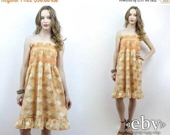 Hippie Dress Hippy Dress Patchwork Dress Festival Dress Boho Dress 70s Dress Summer Dress Vintage 70s Mini Festival Dress Tube Dress XS S