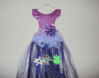 153 Purple Tutu Hair Bow Holder