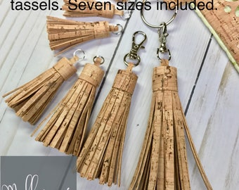 SVG files for cutting Cork Fabric Tassels (7 sizes included) - MollyMade