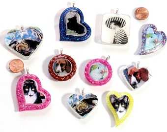 Portable Memorials Personalized Pet and Person Memorial Pendants Custom Made Memory Charms w/ Your Loved Ones To Keep With You Always