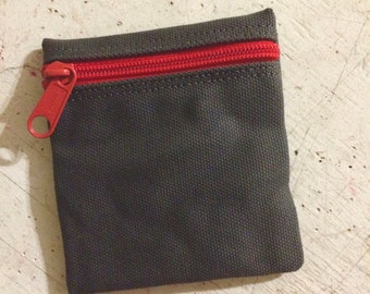 Change purse, condom pouch, vegan coin purse,change pouch, zipper pouch, extra small zip pouch, pocket pouch, credit card pouch, money pouch