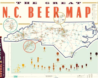 Great NC Beer Map // POSTER
