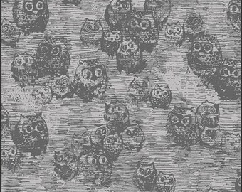 Art Gallery - KNIT - Wonderland - Owly Boo -  Katarina Roccella - K-2531 - Owl - Grey - Sketch - Fall - Halloween