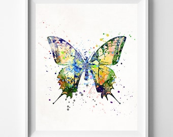 Butterfly Print, Butterfly Watercolor, Butterfly Art, Butterfly Posters, Kids Room Decor, Wall Posters, Art for Kids, Mothers Day Gift