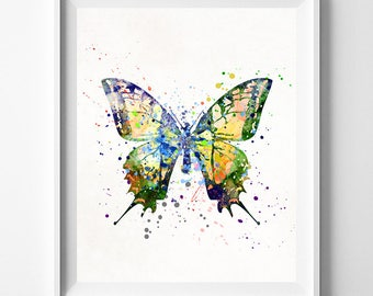 Butterfly Print, Butterfly Watercolor, Butterfly Art, Butterfly Posters, Kids Room Decor, Wall Posters, Art for Kids, Fathers Day Gift