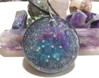 Aquarius Constellation Pendant made in Resin + Free Shipping Worldwide, Aquarius necklace, astrology jewelry, star sign, zodiac jewelry