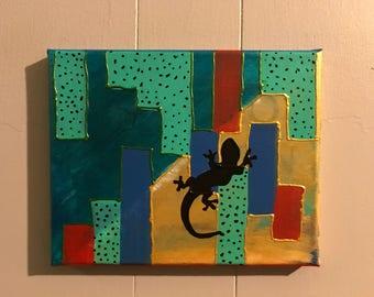 Prettay, Prettay, Prettay Good: Abstract Acrylic Paint on 8x10 canvas