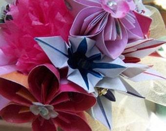 Origami Bright Cherry Blossom Bouquet