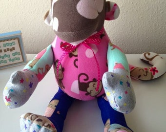 Keepsake Monkey from your Baby Clothes