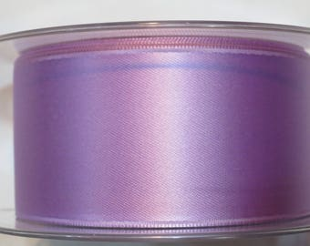 Double faced luxury 40 mm lilac satin ribbon