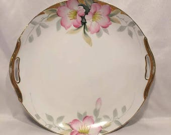 Handled Cake Plate in Azalea by Noritake