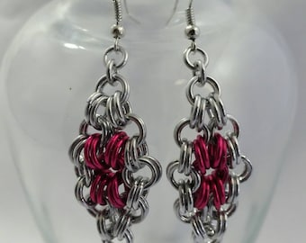 Chainmaille Earrings, Diamond shaped
