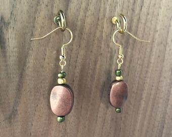 Copper Earthtone Earrings