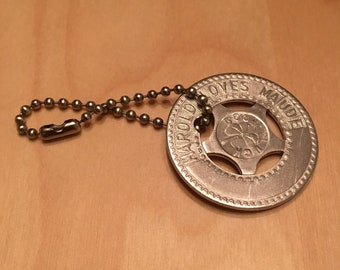 "Harold and Maude ""HAROLD LOVES MAUDE"" Custom Metal Typer Identification Medal"