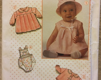 Babies' Dress, Romper, Jacket, Panties Sewing Pattern Simplicity 6715  Size 7-24 Pounds COMPLETE