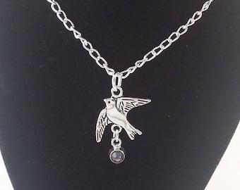 Dove charm necklace