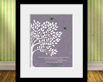 Roots and Wing Quote, Thank You Gift for Parents, Parent's Gift, Hodding Carter Jr. Quote, Parents Anniversary Gift, Christmas Gift