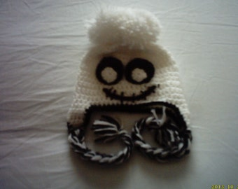 crochet ghost  hat, halloween ghost hat, baby halloween hat, Halloween baby hat, ready to ship