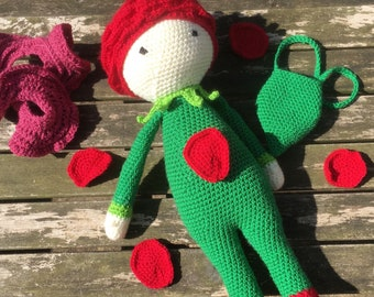 Rose Crochet Doll with Petals