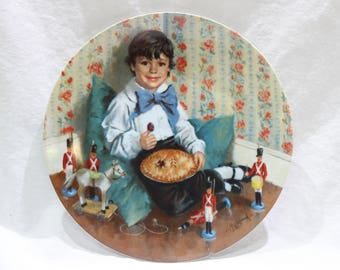 Vintage Reco 1982 Little Jack Horner Collectible Plate, Limited Edition