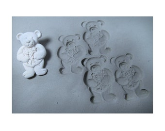 ceramic stamps - bisque stamps -stamps for clay - clay tools - clay stamps - pottery stamps - - bear stamp   ( 267 )