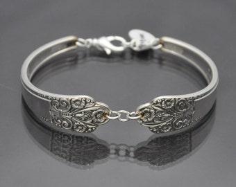 Vintage 1941 Precious Bracelet Silverware Jewelry