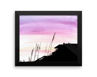 Beach House | Framed photo paper poster