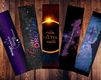 Book Quote Bookmarks - A Court of Quotes