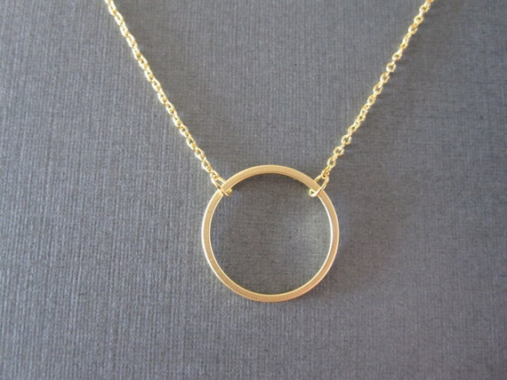 amazon entwined minimalist com double ring pendant necklace circle gift dp interlocking