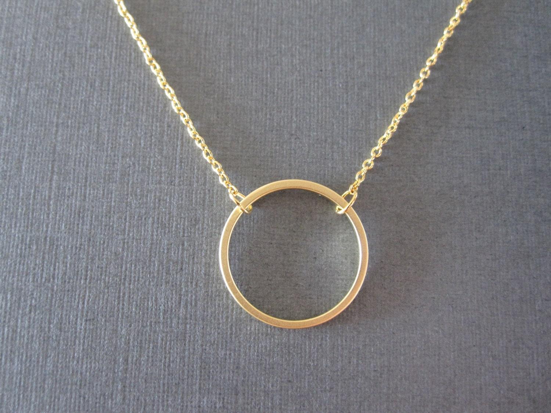gold circle necklace. Black Bedroom Furniture Sets. Home Design Ideas
