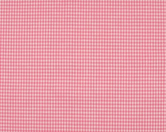 Gingham pink 2mm 100% cotton