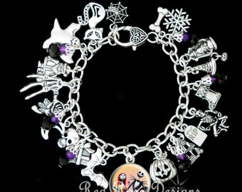 The Nightmare Before Christmas Themed Charm Bracelet